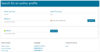 Scopus Preview author search screen